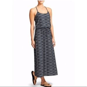 Athleta Ariel Novella Gray Print Maxi Dress
